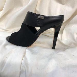 Calvin Klein Sachet Mixed Media Black Mules 5.5M